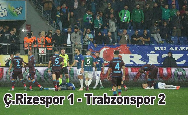 Karadeniz derbisini Trabzonspor kazandı, Rizespor 1-Trabzonspor 2