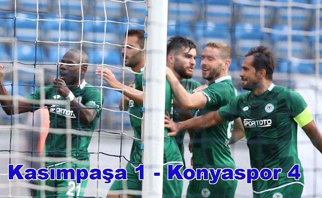 Konyaspor deplasmanda Kasımpaşa'yı farklı yendi