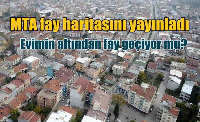 MTA fay haritasını yayınladı | İstanbul diken üstünte