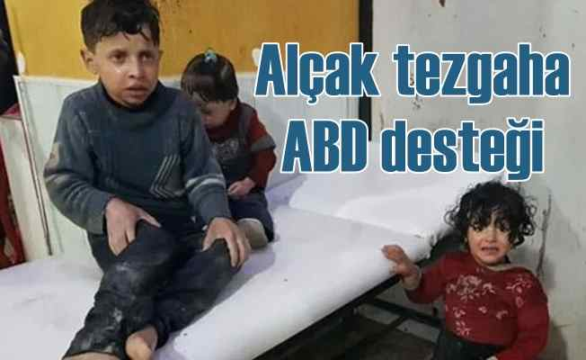 Suriye'de terör örgütünün kimyasal tuzağına Amerikan desteği