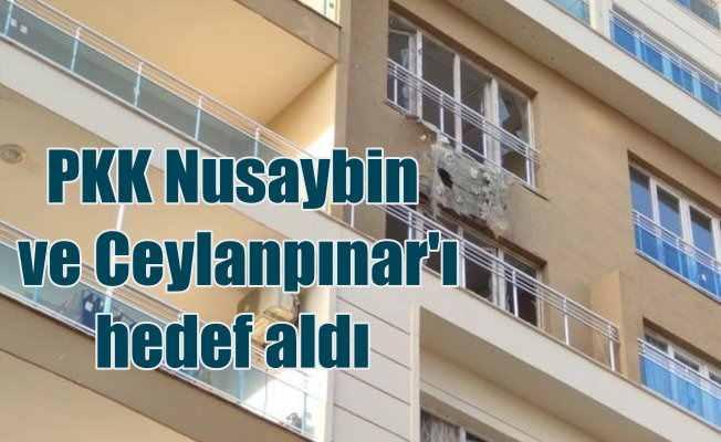 Terör örgütü Ceylanpınar ve Nusaybin'e roket fırlattı