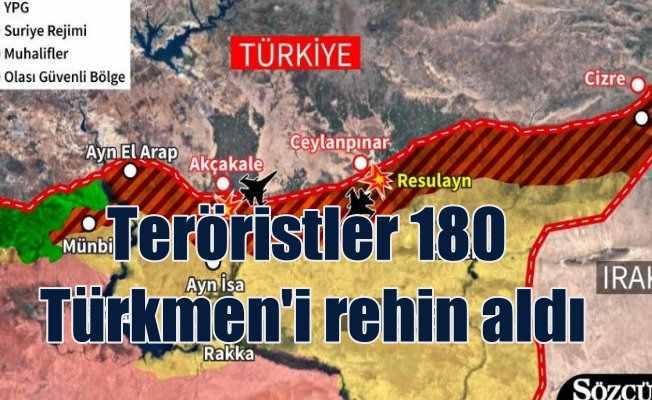 Teröristler Türkmen köyünü bastı, 180 kişiyi rehin aldı