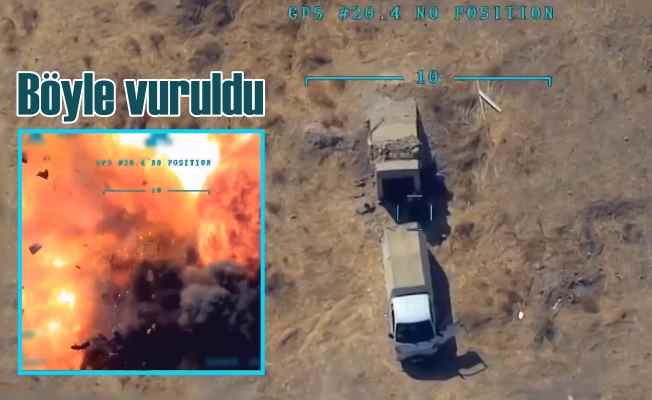 Teröristlerin mühimmat ikmalini İHA'lar buldu, anında vuruldu