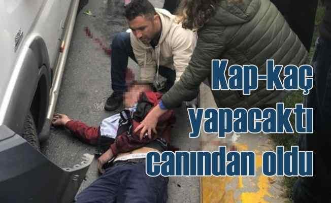 Vatandaşlar kapkaç yapanları kovaladı, gaspçılardan biri öldü