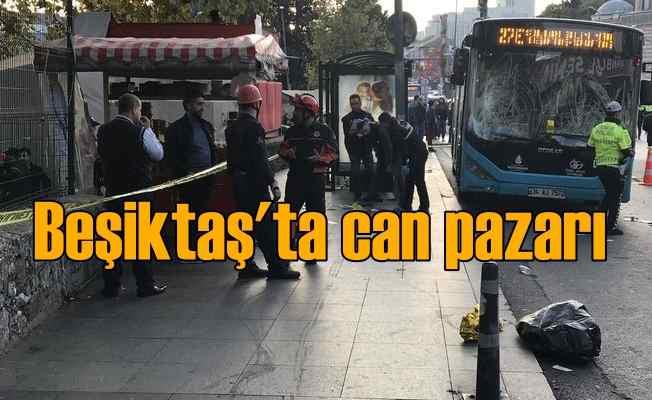 Beşiktaş'ta halk otobüsü otobüs kalabalığa daldı, 14 yaralı var