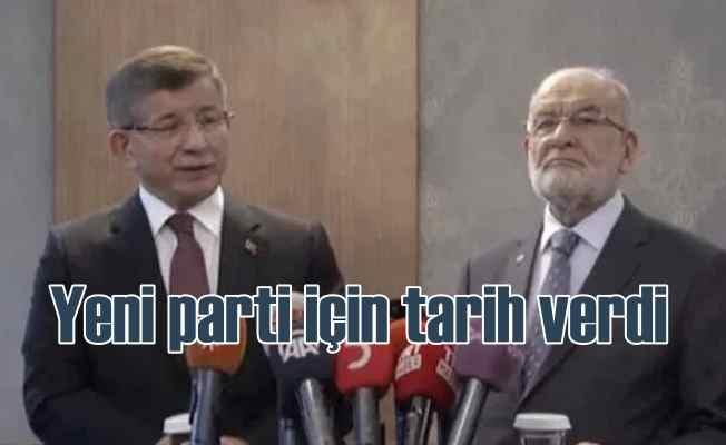 Davutoğlu yeni parti için ilk kez tarih verdi