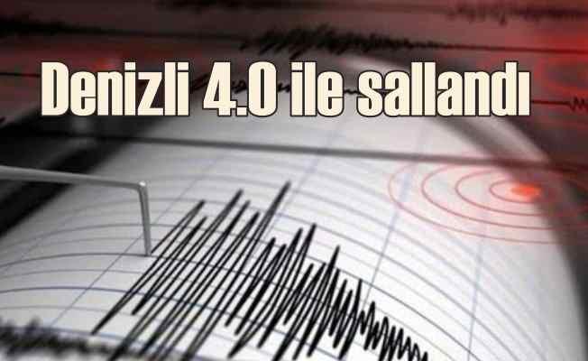 Denizli'de deprem   Denizli Çardak 4.0 ile sallandı