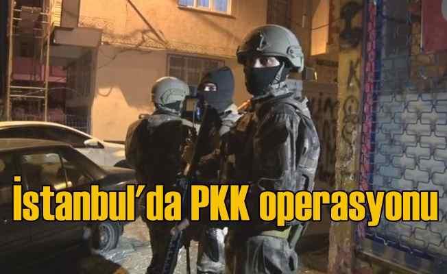 İstanbul'da PKK operasyonu, çok sayıda gözaltı var