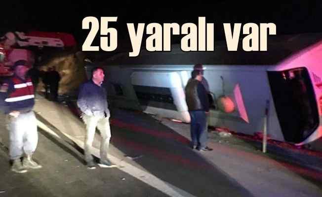 Osmaniye'de feci kaza, 25 yaralı var