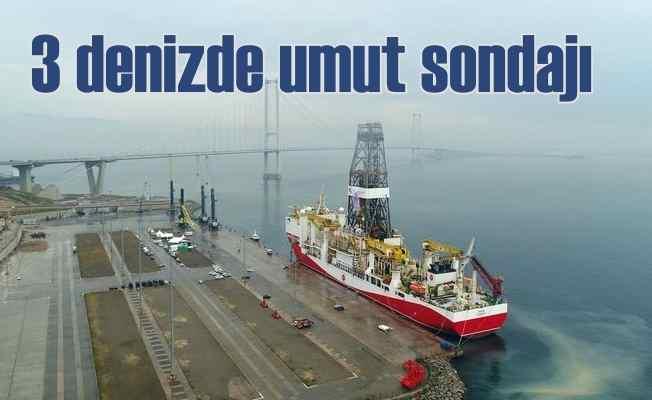 Türkiye 3 denizde birden petrol aramaya hız verdi