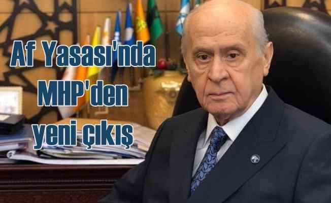 Af Yasası'nda son durum | MHP tasarıyı beklemeye aldı