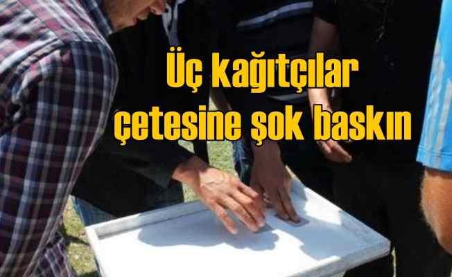Ankara'da üçkağıtçılar çetesine şok baskın, 9 tutuklama