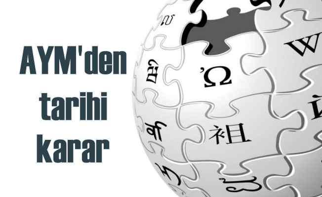 AYM, Wikipedia için son kararı verdi   Açılacak!