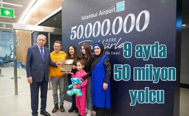 İstanbul Havalimanı, 50 Milyon Yolcuya Ulaştı