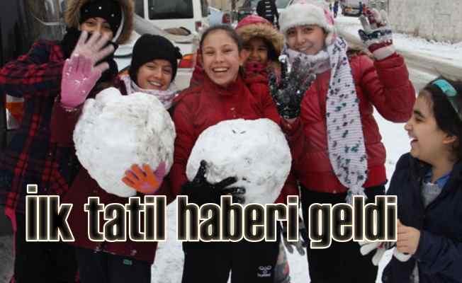 Kar tatili haberi Kahramanmaraş'tan geldi