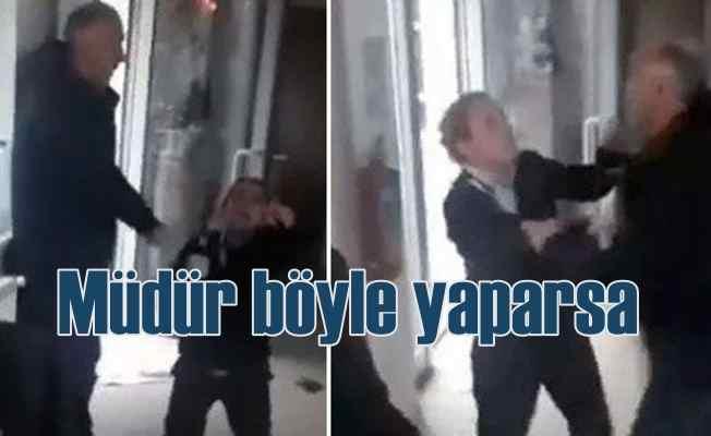 Kız yurdunun güvenlik müdürü, görevlilere saldırdı