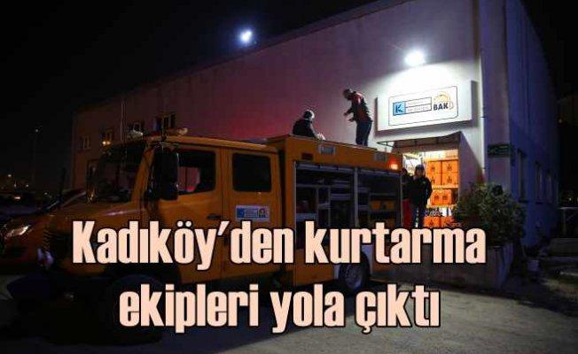 Kadıköy Belediyesi ekipleri Elazığ için yola çıktı