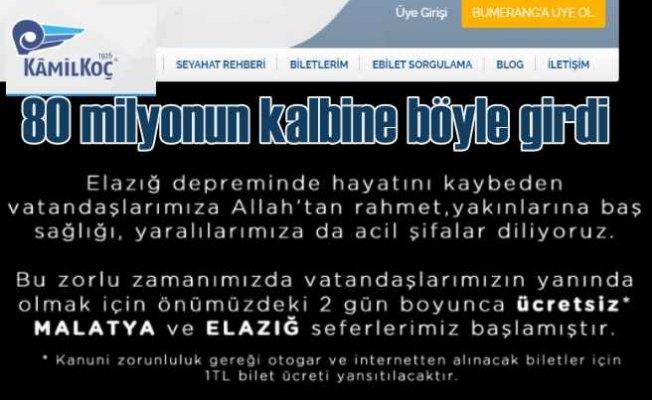 Kamil Koç, Malatya ve Elazığ biletlerini 1 TL yaptı