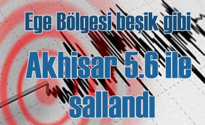 Manisa'da deprem oldu, Akhisar 5.6 ile sallandı