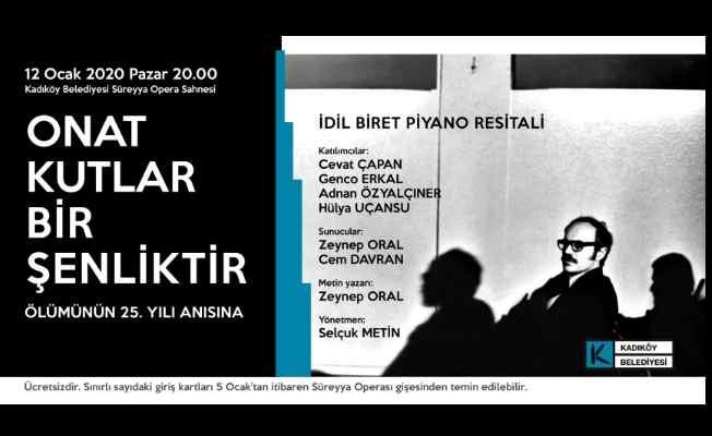 Onat Kutlar Kadıköy'de anılıyor
