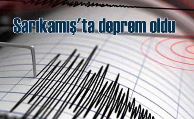 Sarıkamış'ta korkutan deprem | Karakurt 3.5 ile sallandı