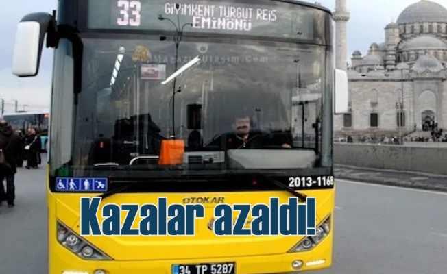 Toplu taşıma otobüslerinde kazalar azalıyor
