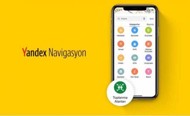 Afet toplanma alanları Yandex haritalarda yerini aldı