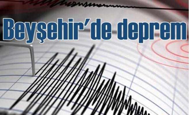 Beyşehir'de deprem, Konya Beyşehir 4.5 ile sallandı