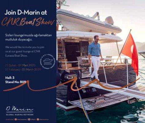 D-Marin CNR Avrasya Boat Show'da deniz tutkunlarıyla buluşuyor