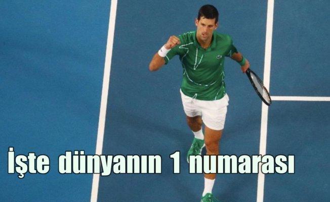 Djokovic teniste dünyanın 1 numarası oldu