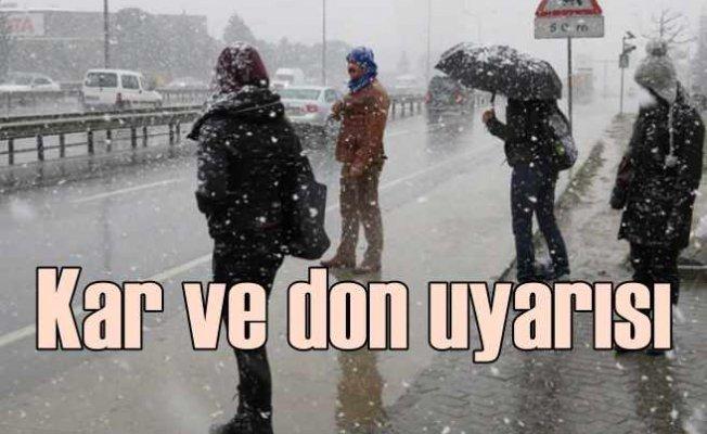 İstanbul'a beklenen kar geldi   Marmara için don uyarısı