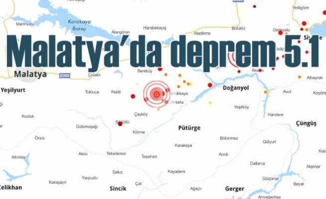 Malatya Pütürge'de deprem, Pütürge 5.1 ile sallandı