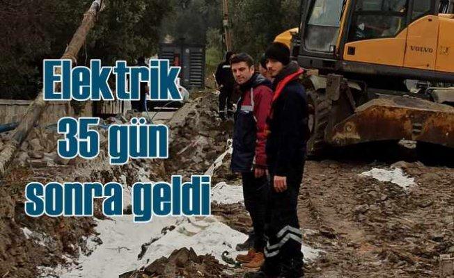 Marmara Adası 35 gün sonra elektriğe kavuştu