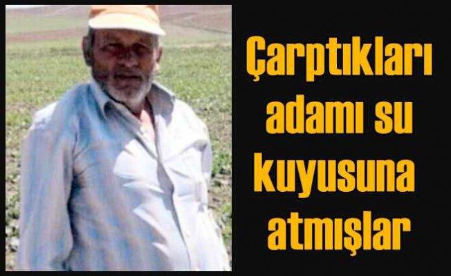 Osman Karayel cinayeti   Otomobille çarpmışlar, kuyuya atmışlar