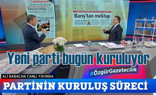 Ali Babacan'ın partisi bugün kuruluyor   Yeni partinin adı ne olacak?