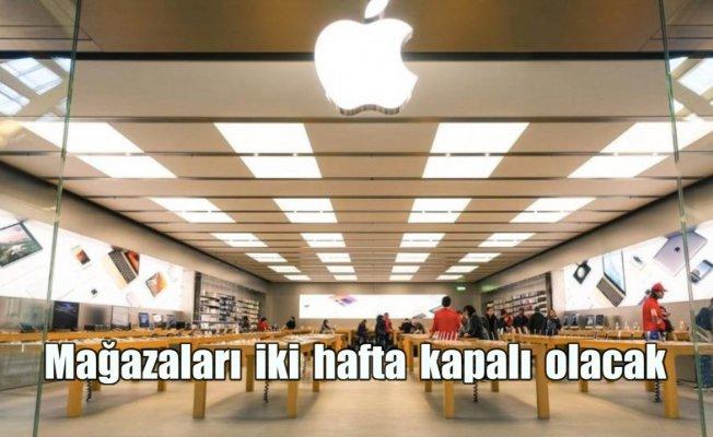 Apple mağazalarını iki hafta kapatıyor