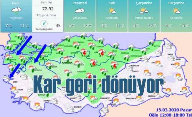 Bugün hava nasıl olacak, soğuklar artıyor, karla karışık yağmur geliyor