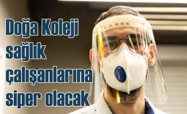 Doğa sağlık çalışanları için koruyucu maske üretimine destek oluyor