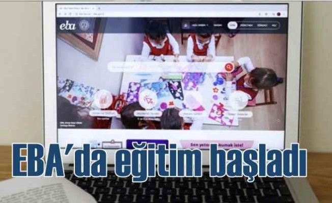 EBA TV'de ders başladı | Uzaktan eğitimde ilk gün