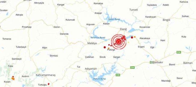 Son depremler | Elazığ Sivrice'de deprem, 5.1