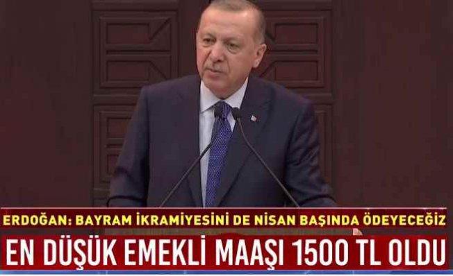 Erdoğan 100 milyarlık paketi açıkladı   Emekliye zam, bayram ikramiyesi Nisan'da