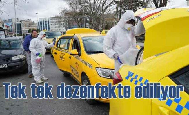 İstanbul'da taksilere koronavirüs önlemi | Tek tek dezenfekte ediliyor
