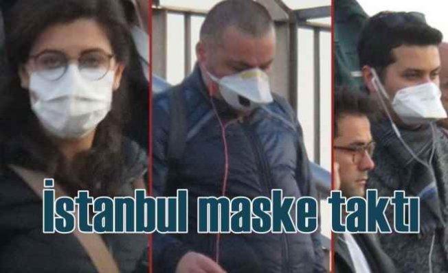 İstanbul maske taktı   Koronavirüse karşı sokakta önlem