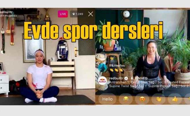 Müge Boz, Red Bull sporcusu Ayşe Begüm Onbaşı ile canlı yayında antrenman yaptı