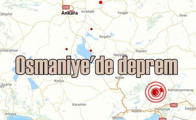 Osmaniye'de deprem, Osmaniye 4.0 ile sallandı