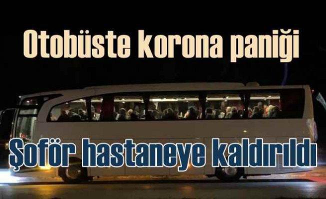 Otobüs şoföründe koronavirüs iddiası yolcuları korkuttu