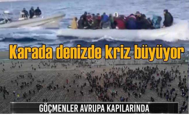 Sınırda göçmen dramı büyüyor, Yunan sınırında zor gece