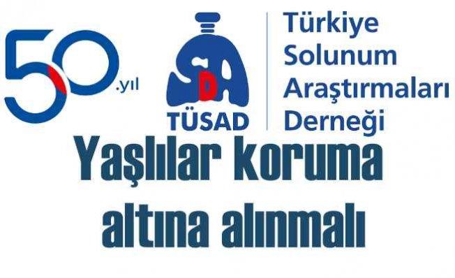 Solunum Derneği TÜSAD | Yaşlıları koronavirüse karşı koruyalım