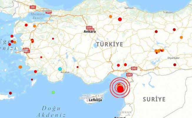 Akdeniz'de deprem   Adana ve Hatay sallandı
