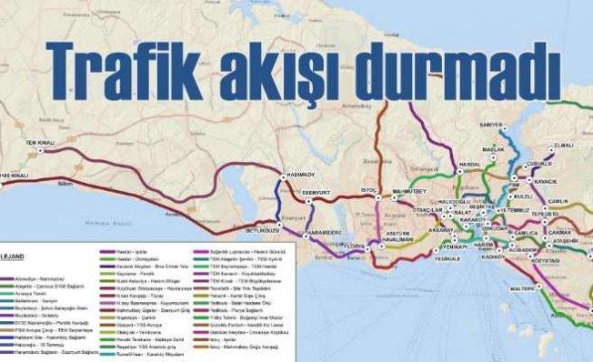Koronavirüs İstanbul'da trafiği durdurmaya yetmedi